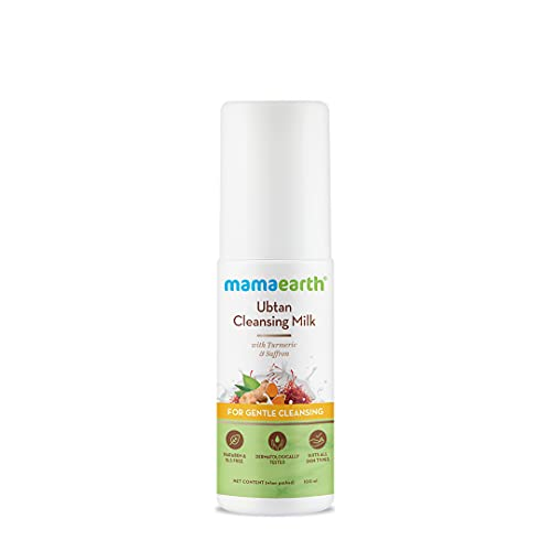 Mamaearth Ubtan Cleansing Milk for face, with Turmeric & Saffron for Gentle Cleansing – 100ml