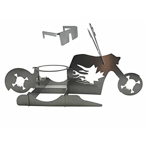 Su-xuri - Soporte de pollo vertical portátil para barbacoa de pollo, acero inoxidable, mesa de motor, 33 x 12 x 15 cm (requiere montaje por sí mismo)