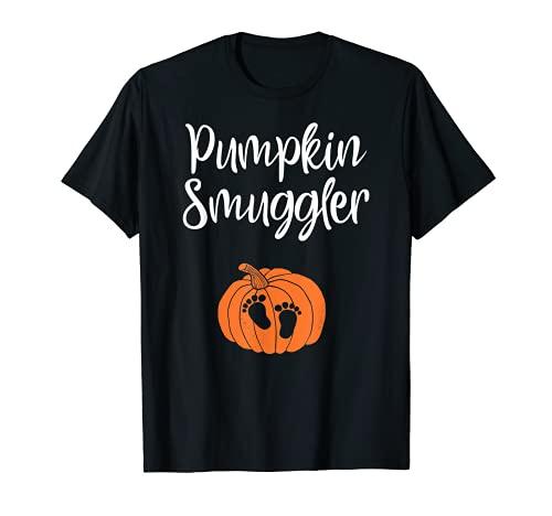 Calabaza contrabandista Embarazo Anuncio Divertido Halloween Camiseta