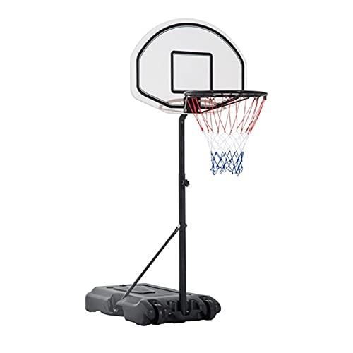 YYOBK Baloncesto Portátil Metas, Sistema De Baloncesto Piscina, Soporte De Baloncesto Junto A La Piscina Ajuste De Altura De Altura, Juguete De Agua De Natación (Color : Black)