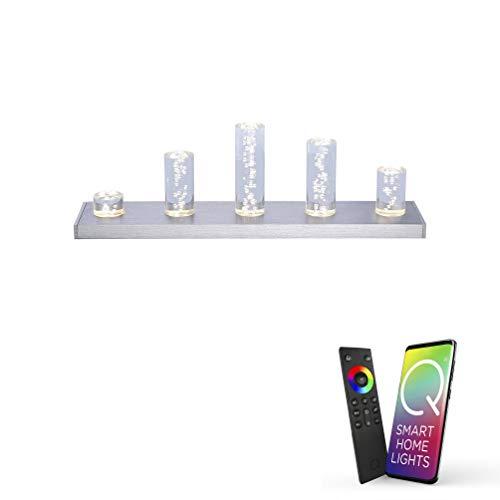 Paul Neuhaus, Q-Skyline, LED Tischlampe, dimmbar mit Fernbedienung, steuerbar über Alexa, Smart Home, Tischleuchte, RGB-Farbwechsel, warmweiß