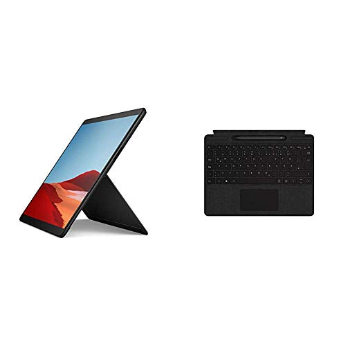 Microsoft Surface Pro X, 13 Zoll 2-in-1 Tablet (Microsoft SQ1, 8GB RAM, 128GB SSD, Win 10 Home) + Surface Pro X Signature Keyboard im Bundle mit Slim Pen