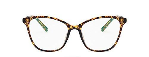 Boner Brilmontuur Dames Retro Zwart Helder Optisch Brilmontuur Spektakelbril Transparante nepbril, Theebloem