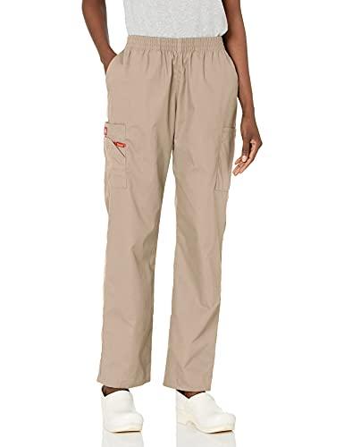 Dickies Men's Plus Size Signature Elastic Waist Scrubs Pant, Khaki, XX-Large