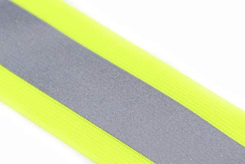 NTS Nähtechnik 5 Meter Reflexband, Reflektorband, in 7 Breiten, Farbauswahl (gelb-Silber-gelb, 50mm)