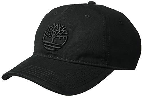 Timberland Herren Soundview Cotton Canvas Hat Kappe, Schwarzes Logo, Einheitsgröße