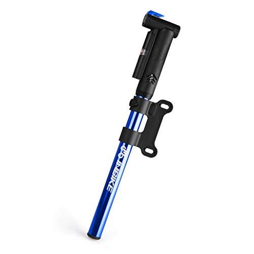 Hoge druk racefiets pomp draagbare luchtpomp basketbal fiets accessoires luchtcompressor band opblaasmachine Blauw