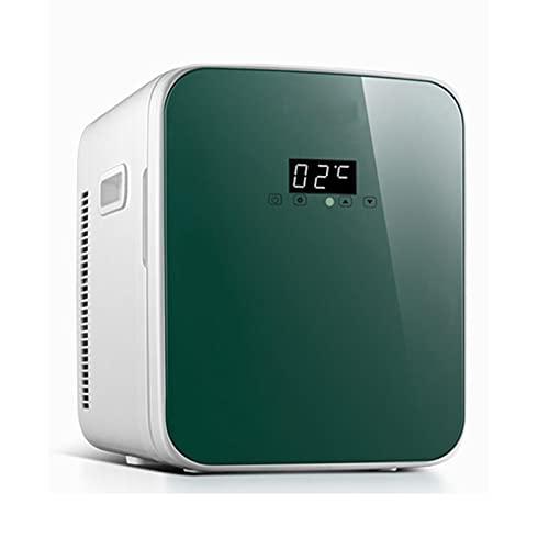 Mini Nevera Mini Refrigerador De 16L / 15 Latas, Refrigerador Compacto Portátil De La Belleza del Coche Casero, Puede Enfriarse Y Calentarse (Color : Green2, Size : 110V)