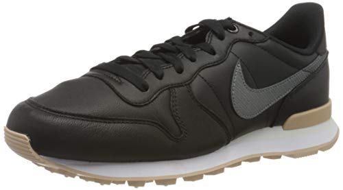 Nike W Internationalist PRM, Zapatillas de Atletismo para Mujer, Multicolor (Black/Mtlc Bomber Gry/Bio Beige 000), 41 EU