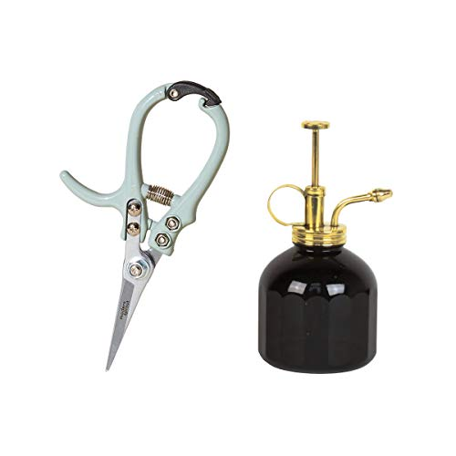 Modern Sprout Indoor Garden Accessories, Plant Mister + Pruning Shears, Black