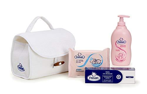 Fissan Beauty Case per Neonati con Kit Prodotti per il Cambio