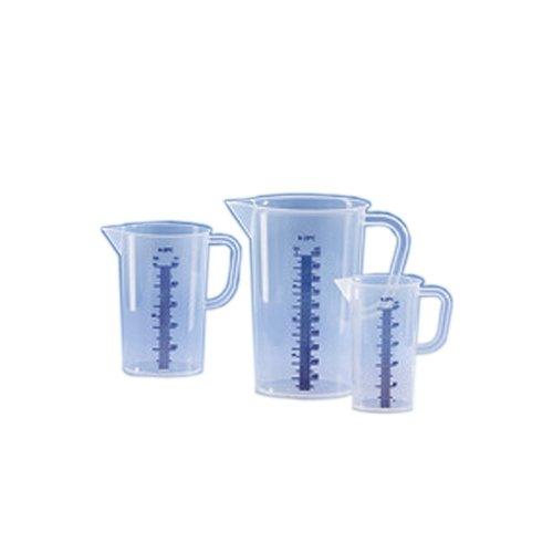 Vitlab 440081 Messbecher, Polypropylen, Erhabene blaue Skala, 250 mL (12-er Pack)