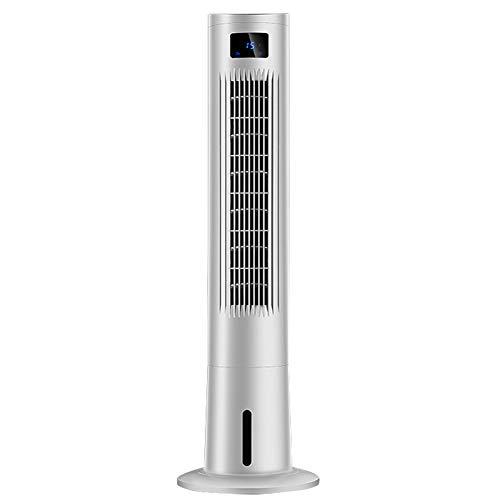 LIQICAI Aire Acondicionado Ventilador De Columna Portátil Purificador De Aire Humidificador 3 Velocidades del Ventilador con Control Remoto (Color : White)