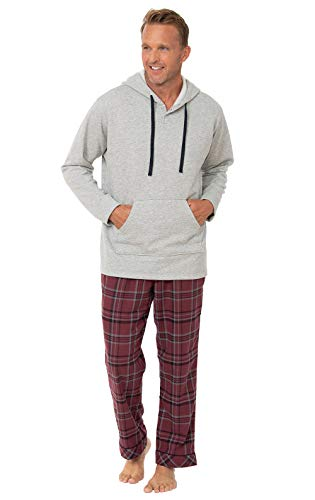Pajamagram Pajamas For Men Set - Mens Pajamas, Burgundy, XL