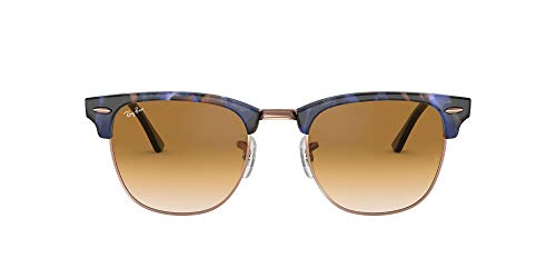 Ray-Ban 0RB3016 Gafas de Sol, Spotted Brown/Blue, 49 para Hombre