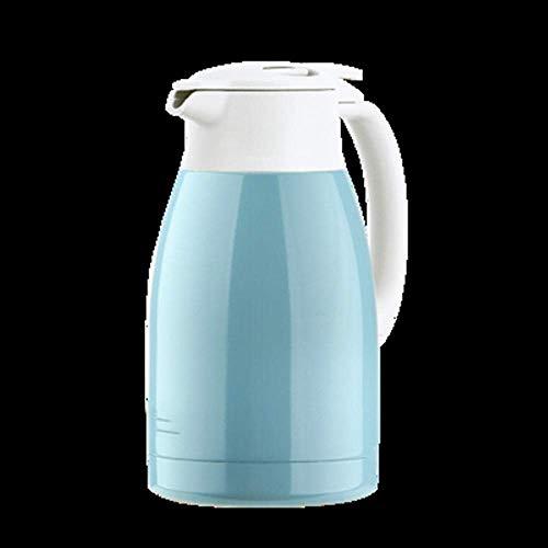 Kyman Termo Termo Caldera de Acero Inoxidable de Gran Capacidad Botella de Hogares hervidor de Agua Termo-Leche Blanca 1.5L (Color : Light Blue)