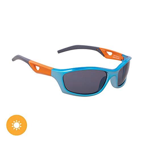 DelSol Solize - Gafas de sol que cambian de color para niños - I Gotta Feeling - Cambia de color de plata a azul bajo el sol - Lente Pro polarizada, 100% protección UVA/UVB