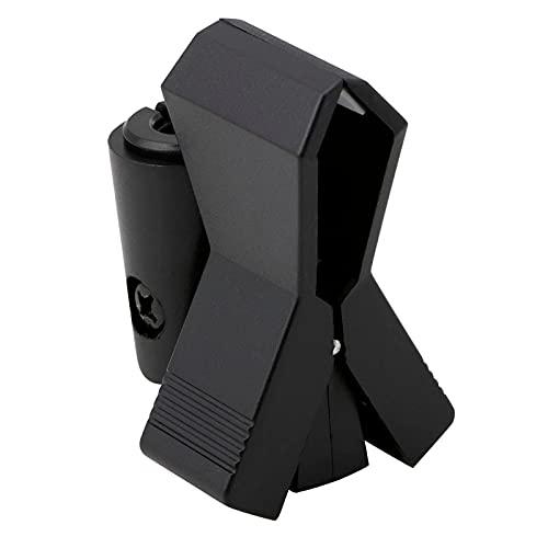 Flexibele Microfoon Mic Stand Accessoire Plastic Klem Clip Houder Mount Black (Color : Black)