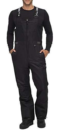 ARCTIX Men's Avalanche Athletic Fit Insulated Bib Overalls, Black, Large