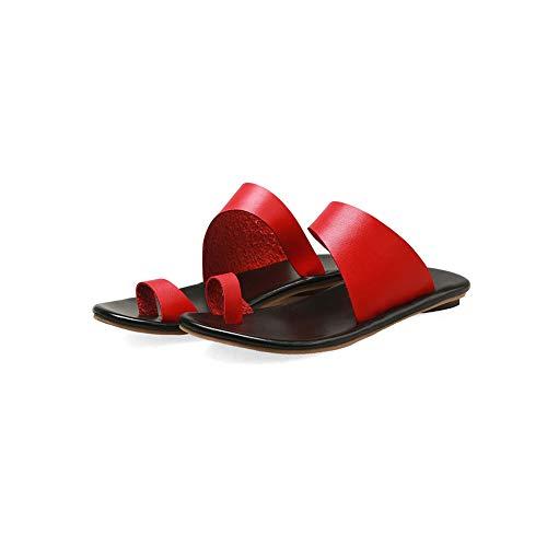 Dames Grote Teen Botcorrectie Voet Orthopedische Sandalen Met Steunzool Comfortabele Zomer Open Teen Strandreissandaal Voor Hallux Valgus Bunion, Geschikt Voor Dagelijks Gebruik,Red,4.5