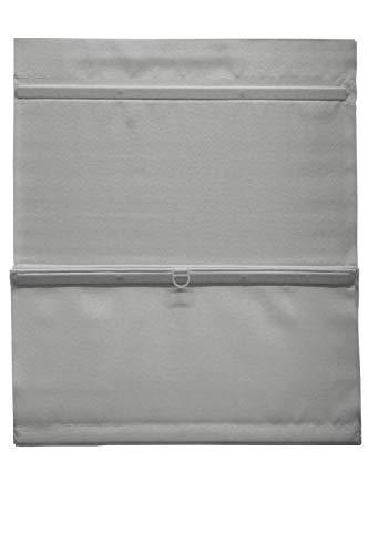 GARDINIA EASYFIX Raffrollo magnetisch inklusive Klettband, Raffgardine, Blickdicht, Alle Montage-Teile inklusive, Grau, 80 x 140 cm (BxH)