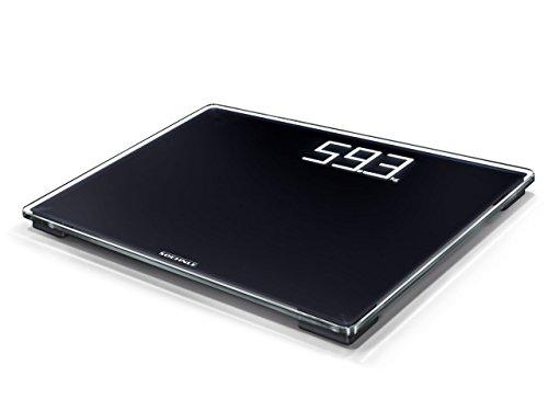 Soehnle Style Sense Comfort 500 Digitale personenweegschaal, met draagkracht tot 180 kg, weegschaal met extra groot LCD-display, personenweegschaal voor een veilige stand