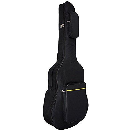 Custodia per chitarra, Imbottita, Impermeabile, Con tasche, Doppia cinghia regolabile, Rafforzata, In nylon 600 D, Da concerto, 104cm, Per chitarra acustica / classica / folk