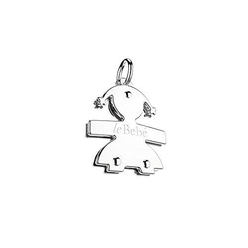 Ciondolo Le Bebè - i mini - femminuccia mini in oro bianco anche per anello Le Bebè