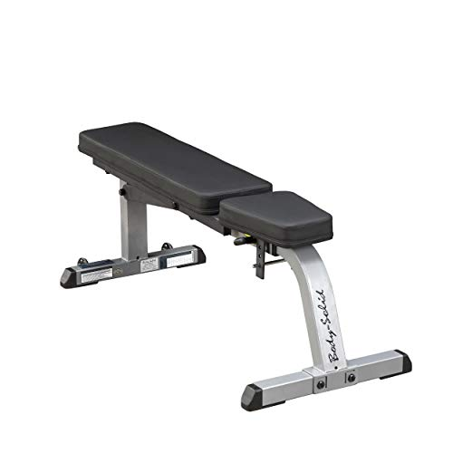 Product Image 2: Body-Solid GFI21 Adjustable 600 lbs. Capacity Flat Incline Weight Bench for Strength Training, Stretching, Ab Exercises, and Dumbbell Curls,Gray