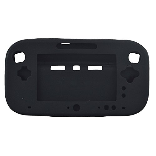 Soft Anti-slip Silicone Protector Case Skin Cover Shell For Nintendo Wii U Gamepad (Black)