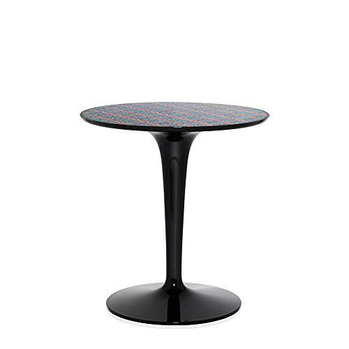 Kartell Tip Top table basse noire cavec plateau décoré La Double J picnic