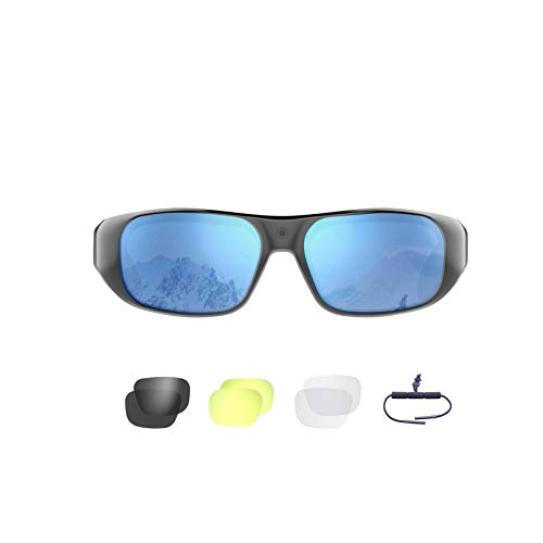 Waterproof Video Sunglasses,64GB Ultra 1080P HD Outdoor...