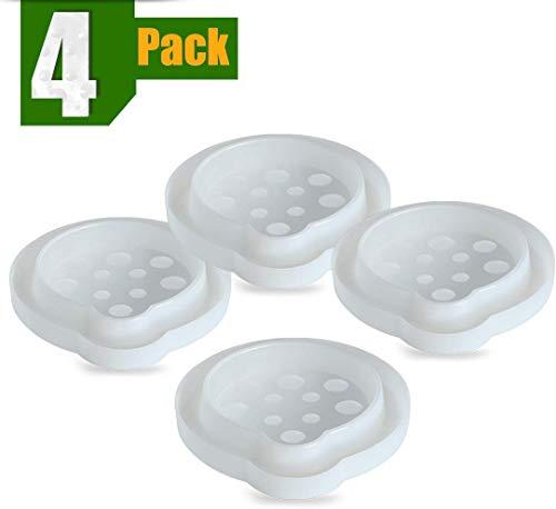 ASPECTEK Trampa para chinches, Interceptor de Insectos (Paquete de 4). Trampas de Patas de Cama para chinches
