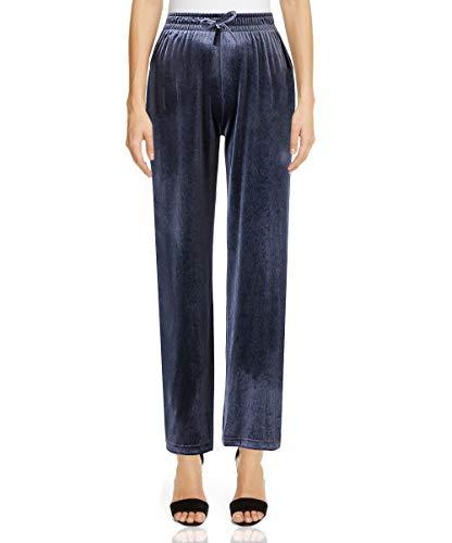 Hanayome, Pantalones Deportivos para Mujer, Pantalones de Yoga para Mujer, Pantalones Holgados Informales de Pierna Ancha, cómodos Pantalones de Terciopelo de Talla Grande -(Azureblue-3XL)
