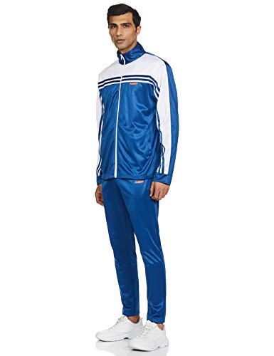 Fusefit Men's SP Elan Track Suit, SPORTS BLUE / WHITE, Small (FFA-MO010-03-S)
