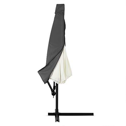 Deuba Schutzhülle Sonnenschirm für 3m Schirme Schirm Abdeckhaube Abdeckung Hülle Plane Ampelschirm Anthrazit