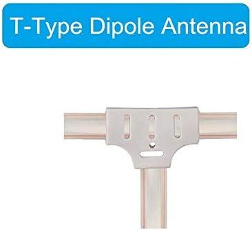 Ancable 2-Pack 300 Ohm Antena FM en forma de T Dipolo Ant con terminal de espada para Yamaha Sharp JVC Marantz Receptor Sintonizador Est/éreo Vintage