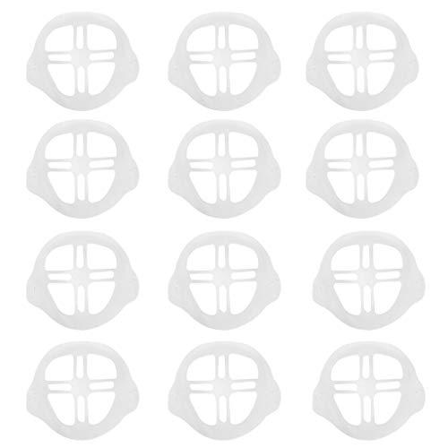 12 Stück Unisex Adult 3D-Silikon-Halterung,Stützrahmen,Innenkissen,Nasenpolster für Mund und Nase,Erhöht Sie den Atemraum