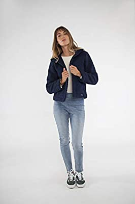 CARVE Designs Women's Clayton Moto Jacket, Navy, Small