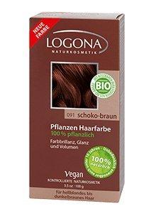 Pflanzen-Haarfarbe-Pulver, Schoko-Braun