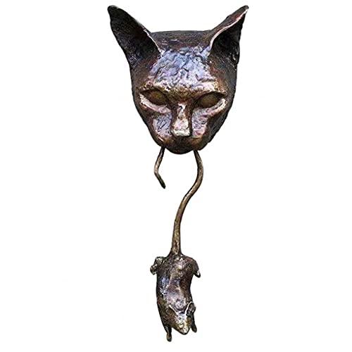 Sanfiyya Katze Maus Türklopfer Haustür Klopfer Dekoration Wand Harz Ornament hängende Statue Gartenmöbel