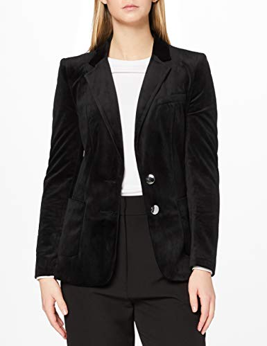 Marchio Amazon - find. - Velvet Blazer, Blazer Donna, Nero (Black), 44, Label: M