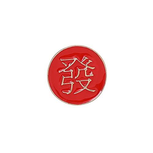 ROTOOY Épingle de Style Chinois, occupé, Riche, pauvre, Insigne en métal Rond, Broche, vêtements Fixes, médaille, Sac, Accessoires