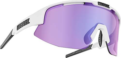 Bliz Matrix M12 Brille matt White/Brown with Purple Multi 2020 Sonnenbrille