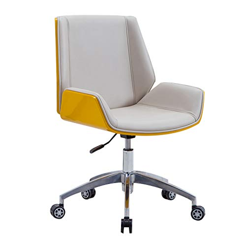 Desk Chair Executive Office Chair Office Desk Chair, Graceful Reception Chairs Executive PC Computer Chairs 360°Swivel Height Adjustable Chair Rocking Chair with Wheels