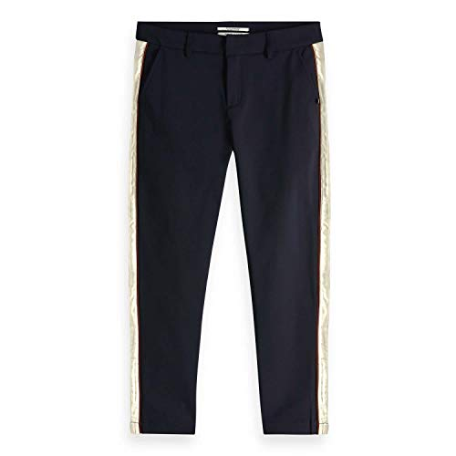 Scotch & Soda Dames Tailored Stretch Pants with Contrast Side Panel broek