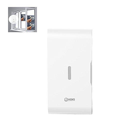 JC ventana/puerta vibración Glass break sensor de vibración inalámbrico 433MHz sistemas de alarma de seguridad para el hogar negocio