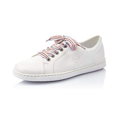 Rieker Femme Chaussures à Lacets L2710, Dame Chaussures de Sport,Chaussures de Rue,Baskets,Chaussure Sportives,décontracté,hartweiss,38 EU / 5 UK