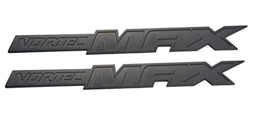 Aimoll 2pcs Vortec Max Door Emblem Logo, Badge Plate Band Decal for Chevrolet 06-09 Silverado Sierra SS 6.0 Gm Truck 6.0 Liter (Matte Black)