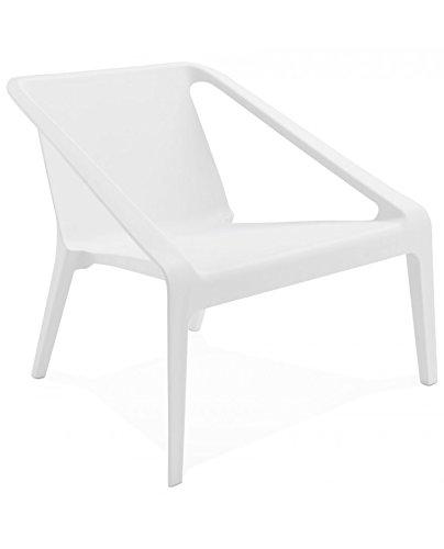 Kokoon design Fauteuil Lounge intérieur et extérieur SOLEADO (Blanc)